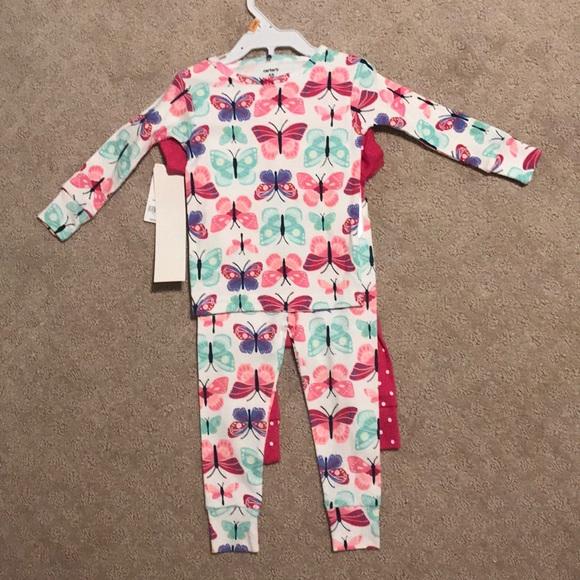 93dce5b6907f NWT 💗Carter s 💗 lightweight 2 of Girl pajamas pj NWT